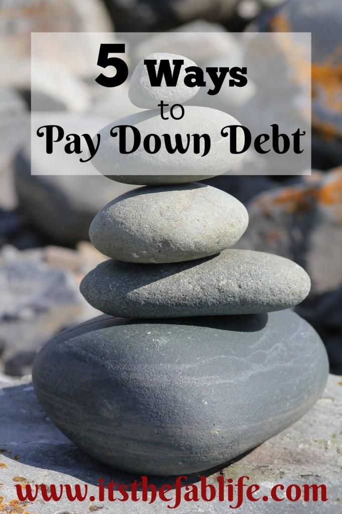5 Ways to Pay Down Debt | Debt Payoff | #debtmanagement #moneymanagement #debtrelief #freedom #finance