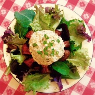Tuna Stuffed Tomato Salad