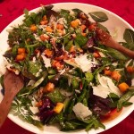 Squash Salad with Warm Cider Vinaigrette