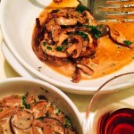 Rib-Eye Steak with Mushroom Pork Ragout