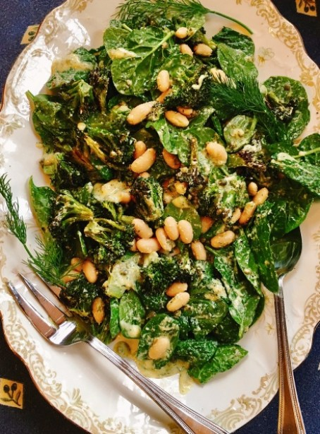 Roasted Broccoli White Bean Salad