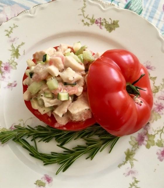 Rosemary Chicken Salad Stuff Tomatoes