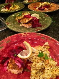 Spice-Crusted Salmon with Shaved Beets, Fennel, Lemon and Herbs