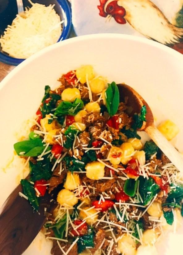Chorizo Red Pepper Spinach Gnocchi