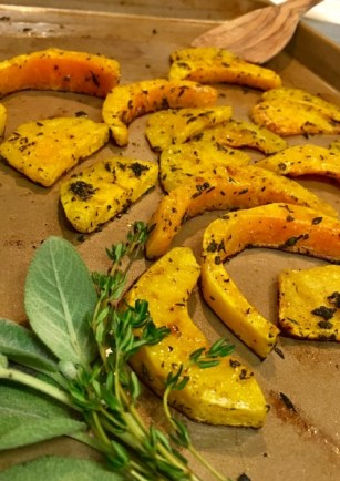 Roasted Butternut Squash with Sage & Thyme