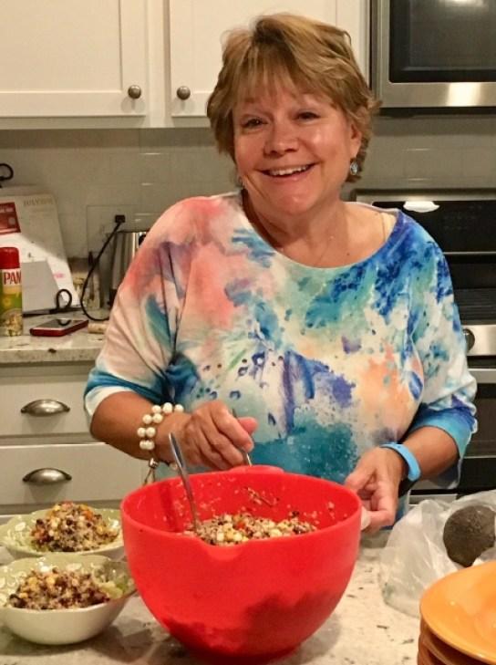 Tracey Making Quinoa Salad