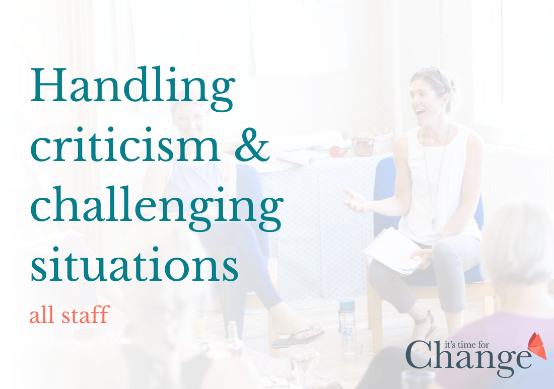 Handling Criticism & Challenging Situations