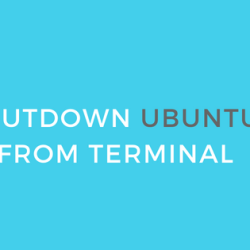 shutdown ubuntu from terminal