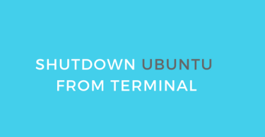 shutdown ubuntu from terminal