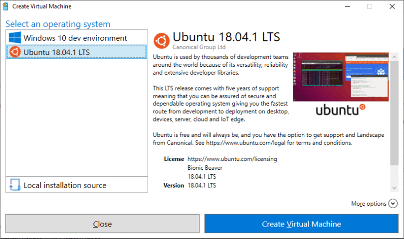 Optimised Ubuntu Available In Microsoft Hyper-V Gallery
