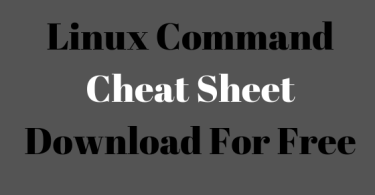 Linux Command Cheat Sheet: Download For Free