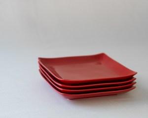 Arita Square Plate - Red