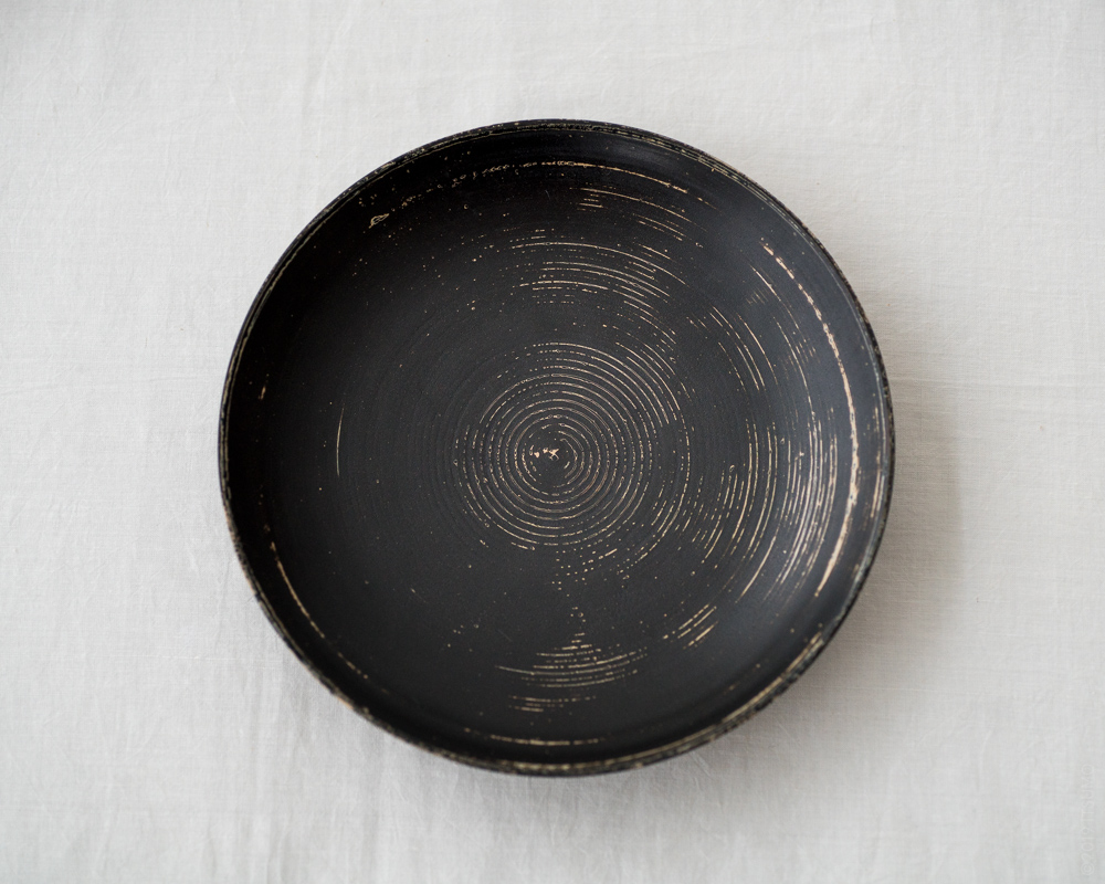 TSUKIHO Lacquered Wood Plate_Black-2