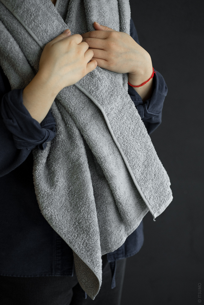 UCHINO_CL Zero Twist Towel_grey_dl-1