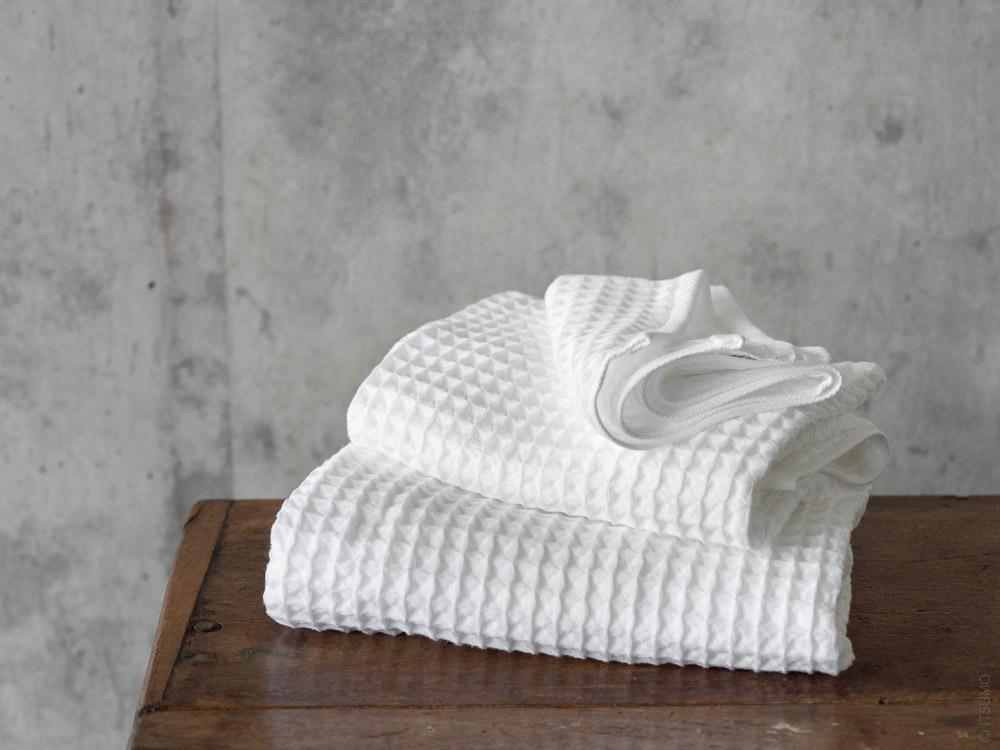 Uchino_Air Waffle Towel_white