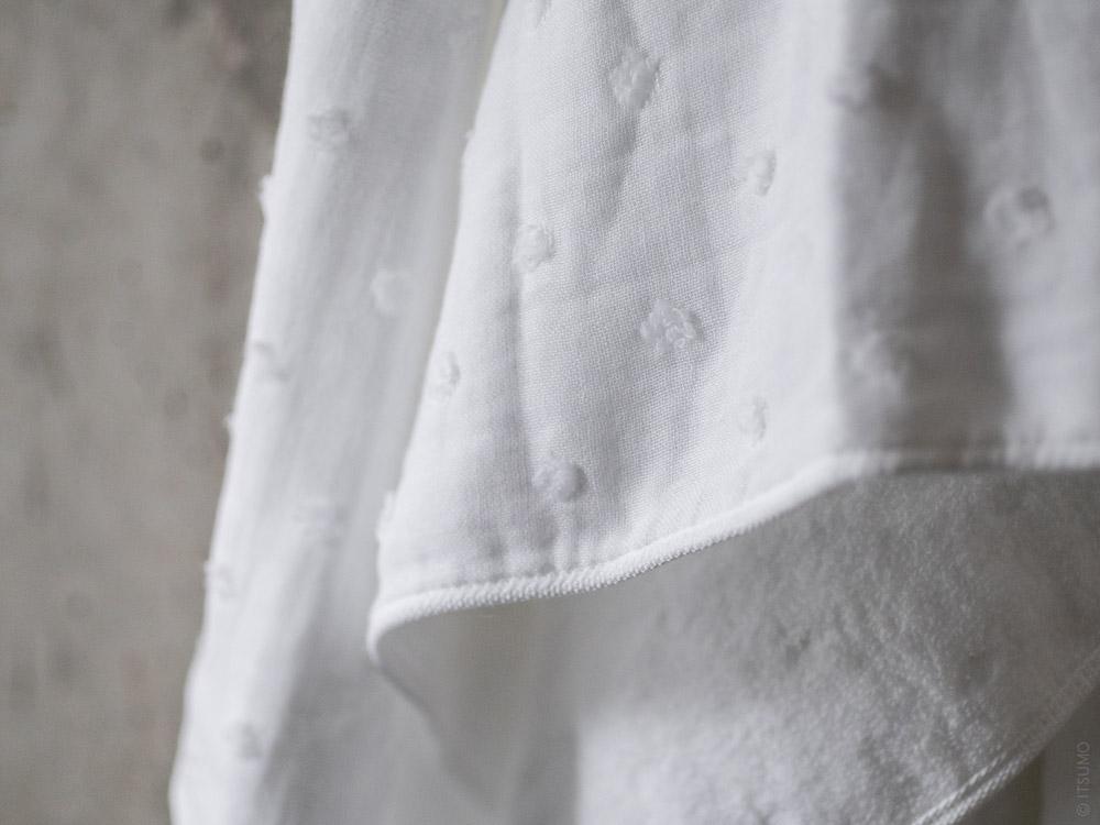 Uchino_Zero Twist Gauze Dot_white