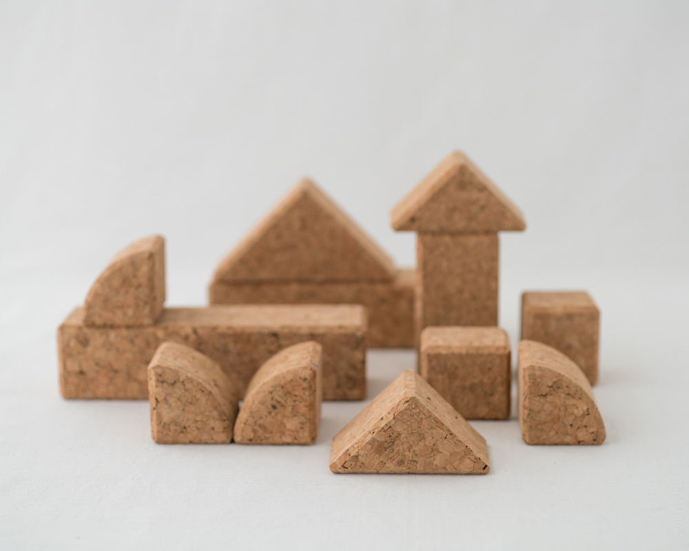 Cork Building Blocks - 12pcs