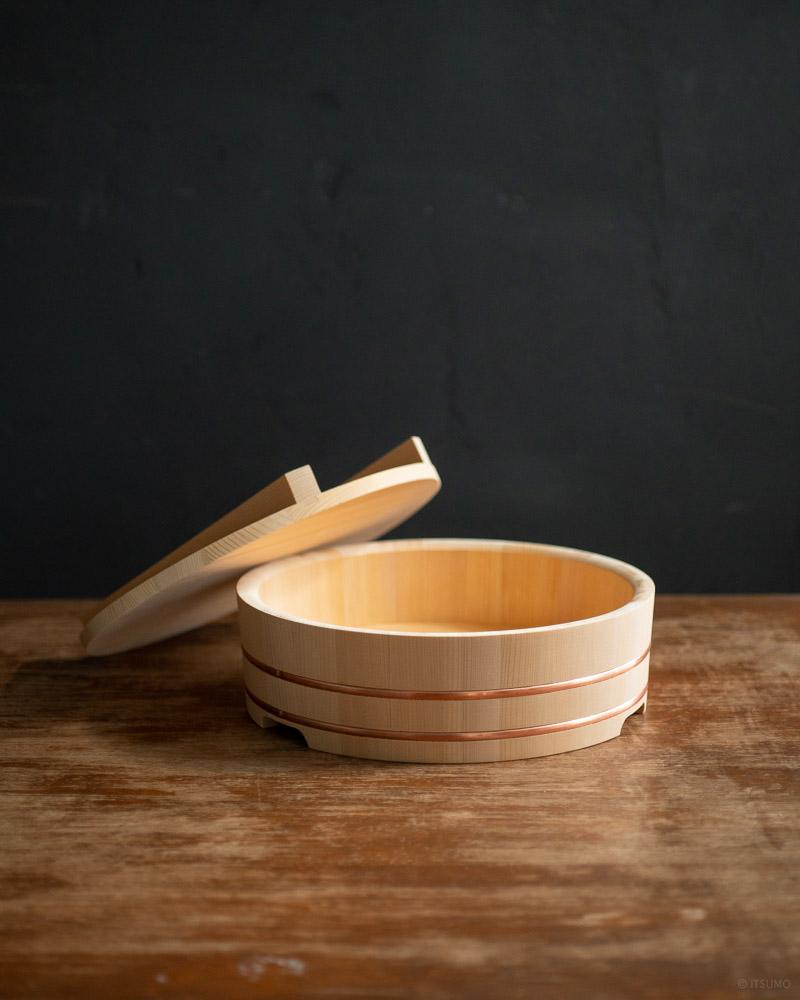 azmaya-sushi rice mixing bowl-sawara cypress wood-1