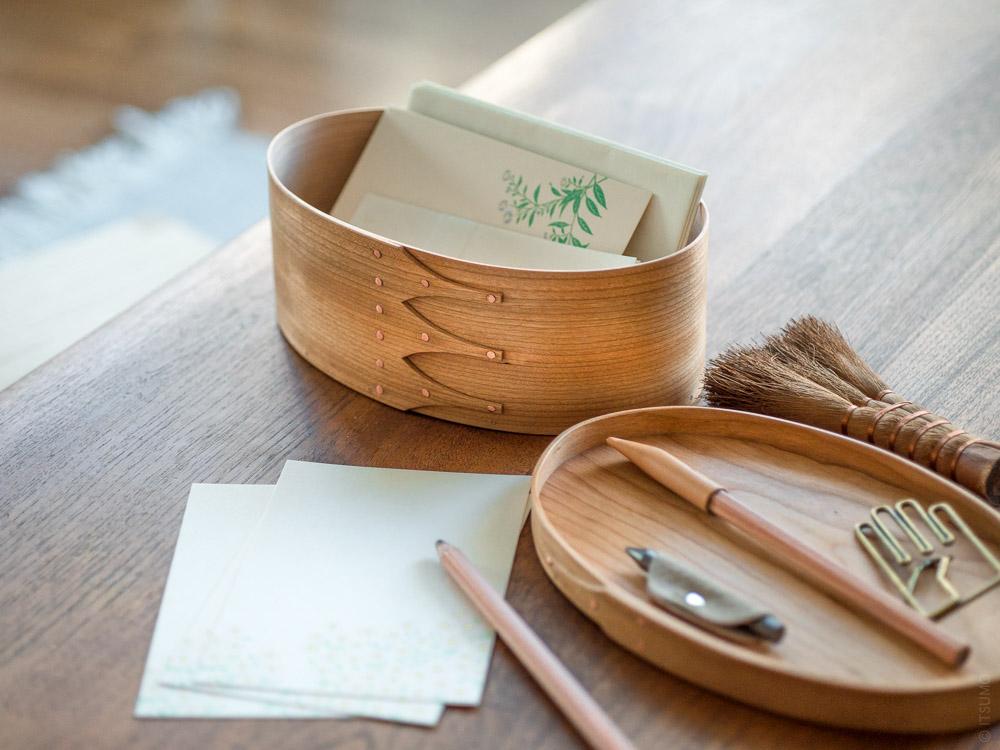 Masashi Ifuji_Oval Box_Cherry_mood styling with stationery