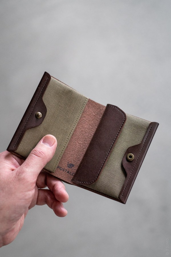Postalco_Card & Coin Wallet_olive green_top