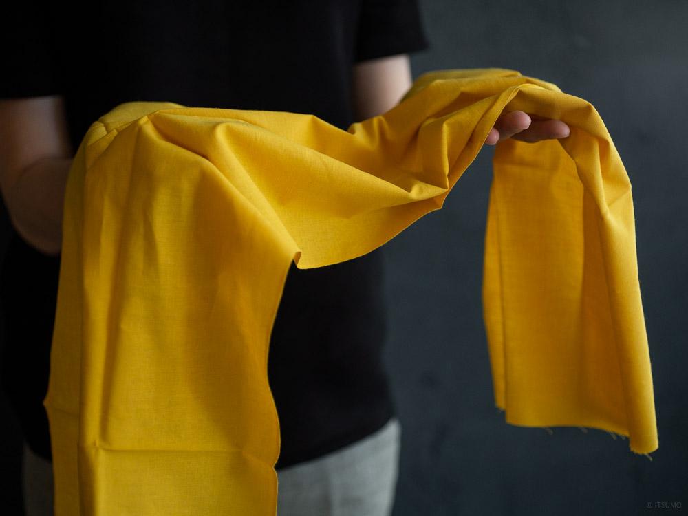 Tenugui_solid colours_mustard