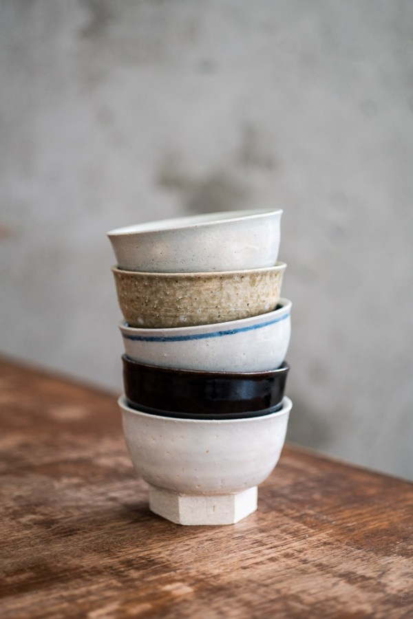Azmaya_Iga Small Bowl with Hexagonal Base_top