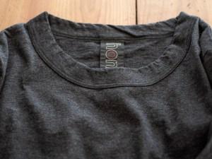 Homspun_3/4 Sleeve T-shirt_charcoal_dl
