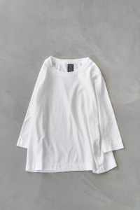 Homspun_3/4 Sleeve T-shirt_white_top