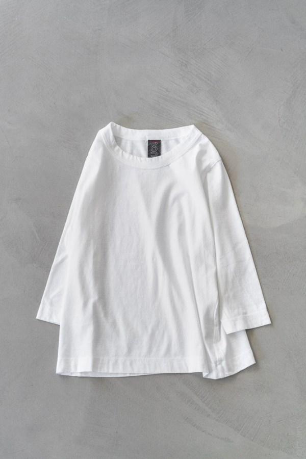 Homspun_3/4 Sleeve T-shirt_white_top