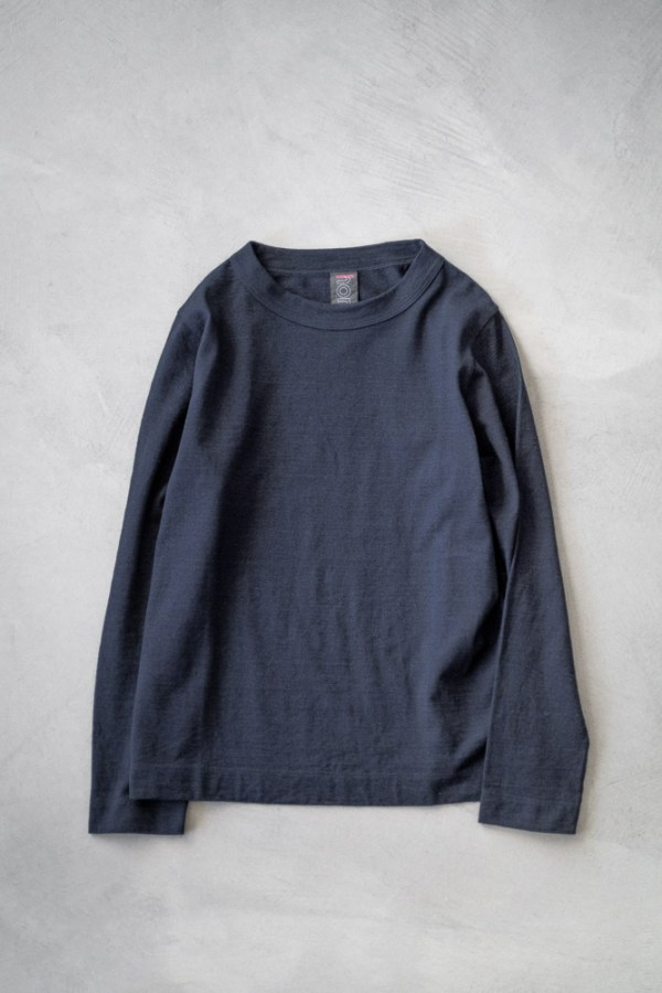 Homspun_Long Sleeve T-shirt_dark indigo_top