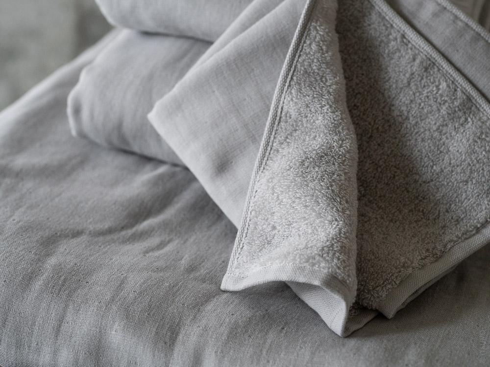 Uchino_Gauze & Pile Towel_grey