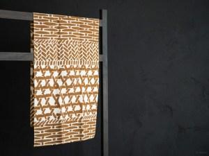 Kamawanu_Tenugui_Cotton Linen Mix_Kagome Basket_brown_dl
