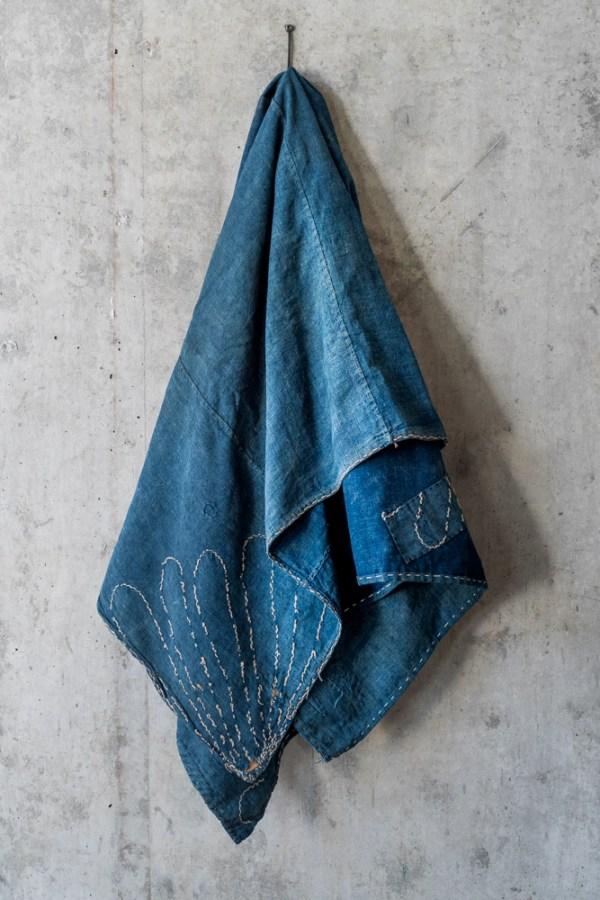 Vintage Boro Furoshiki Fabric_Indigo Sashiko_dl