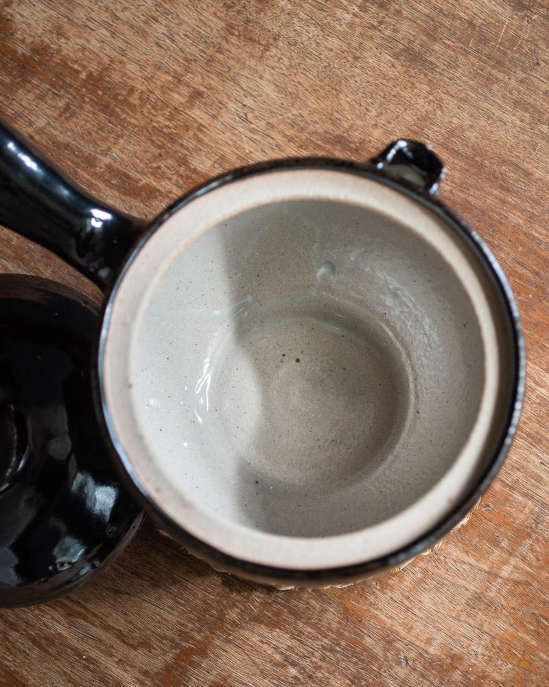 azmaya-iga yukihira pot-igaware ceramic donabe-kuroame black-2