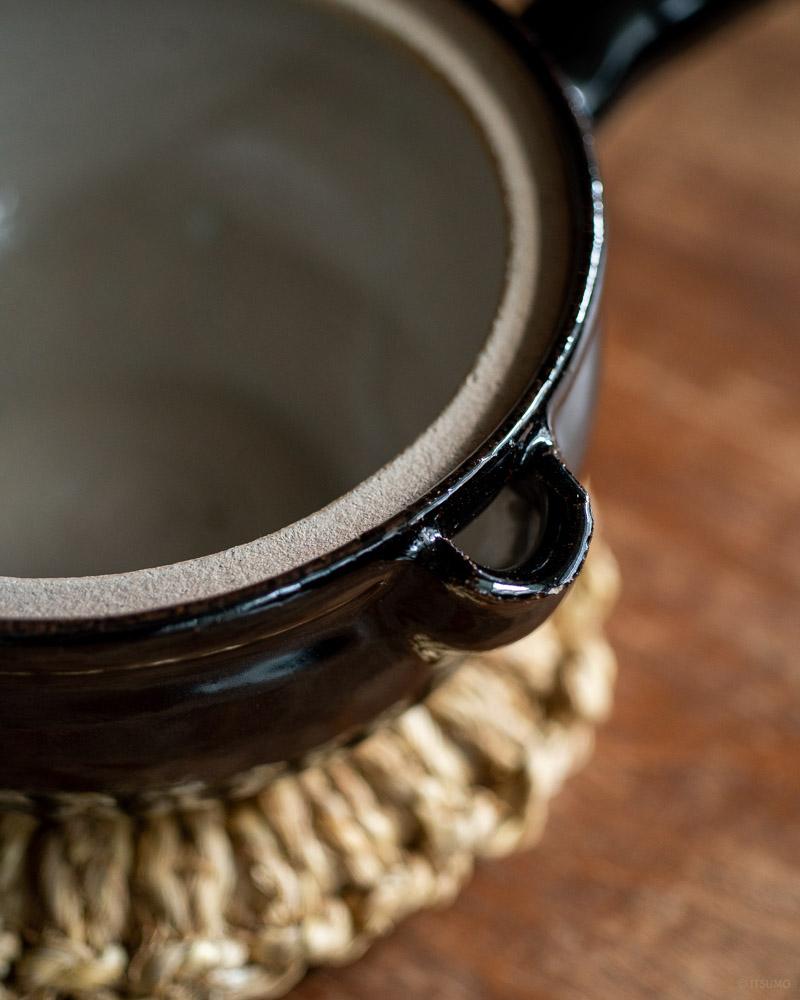 azmaya-iga yukihira pot-igaware ceramic donabe-kuroame black-3