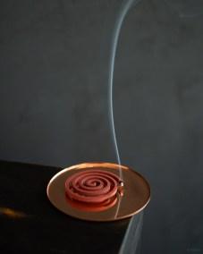 eN Product-copper coaster-incense holder dish