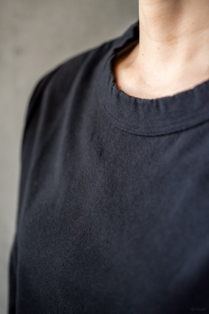 homspun-women's cotton long sleeve t-shirt-black-4