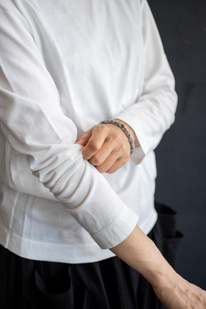 homspun-women's cotton long sleeve t-shirt-white-4