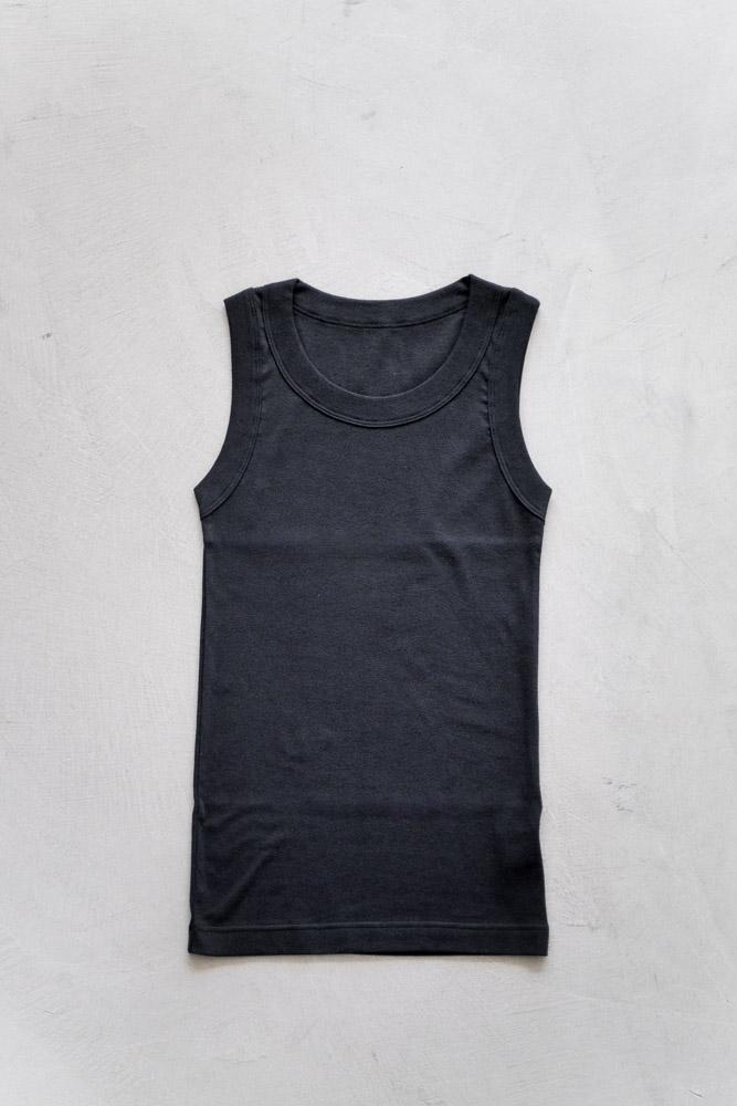 homspun-women's cotton tank top-black-6