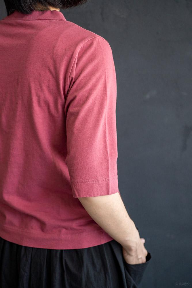 homspun-women's cotton half sleeve t-shirt-rasberry-5