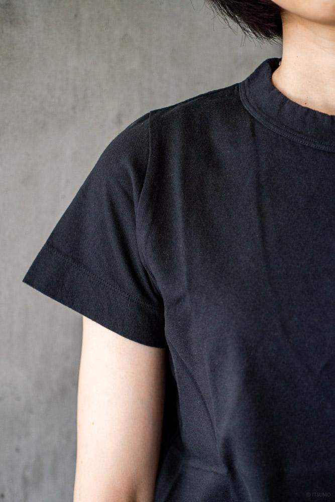 homspun-women's cotton short sleeve t-shirt-black-3