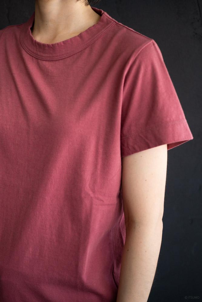 homspun-women's cotton short sleeve t-shirt-rasberry-4