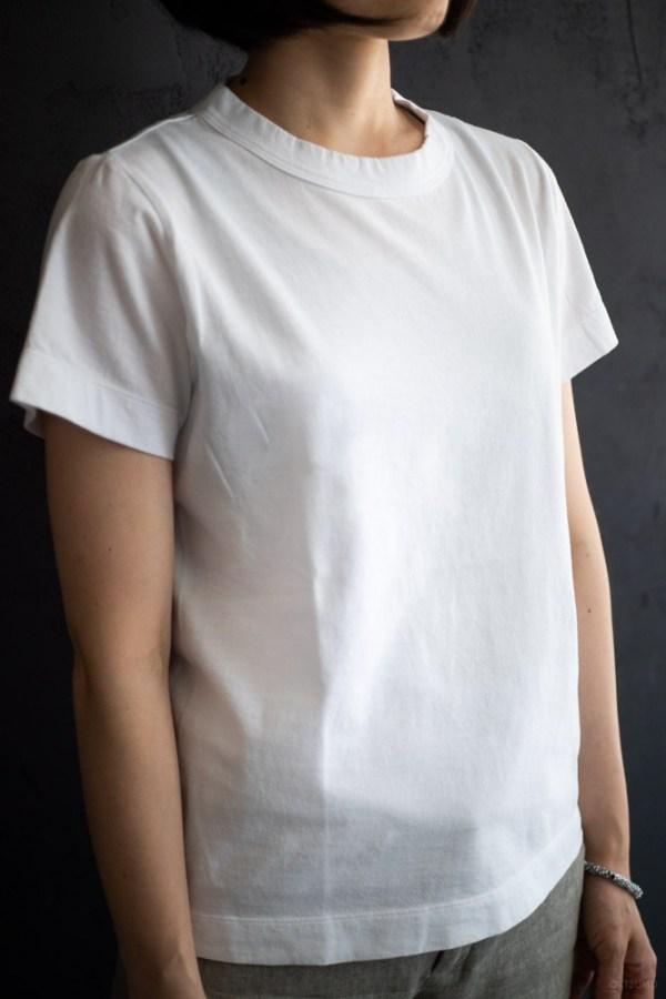 homspun-women's cotton short sleeve t-shirt-white