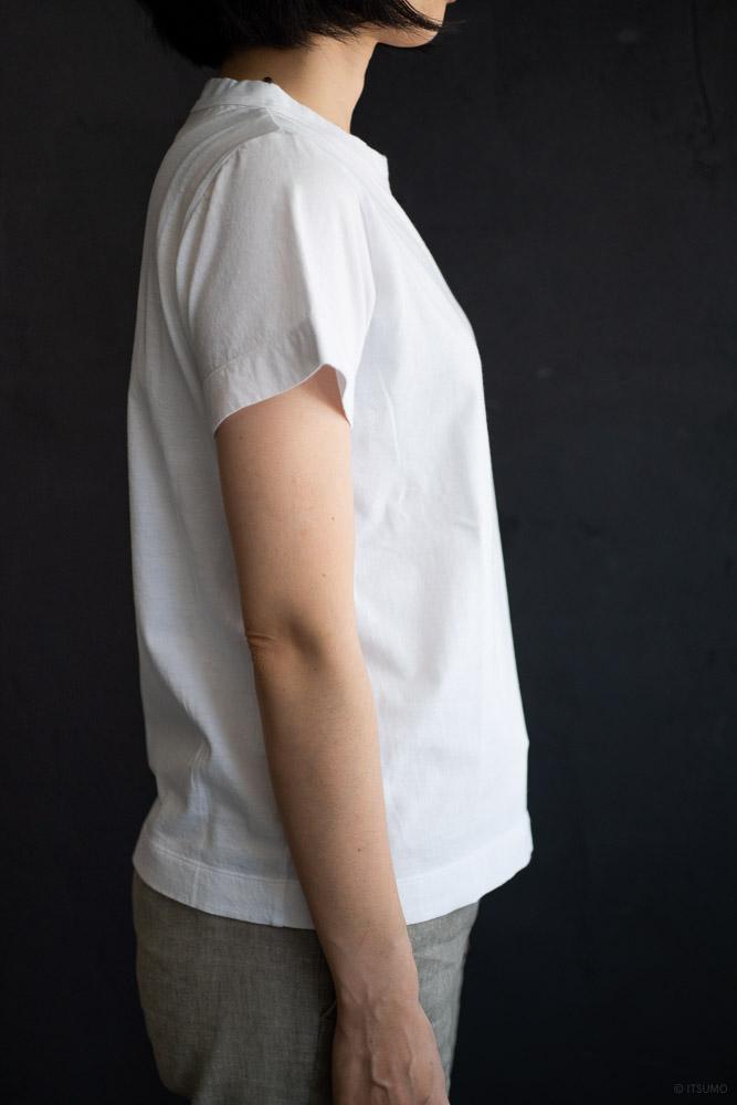 homspun-women's cotton short sleeve t-shirt-white-3