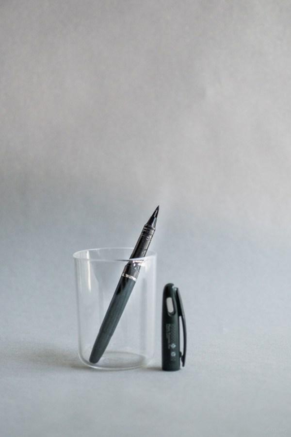 stationery craft design technology_tradio plastic fountain pen_black