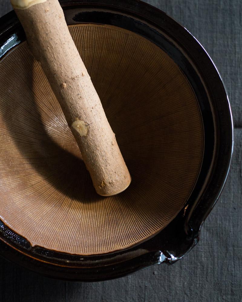 azmaya-iga mortar & sansho pestle XL-igaware ceramic-wooden pestle-2