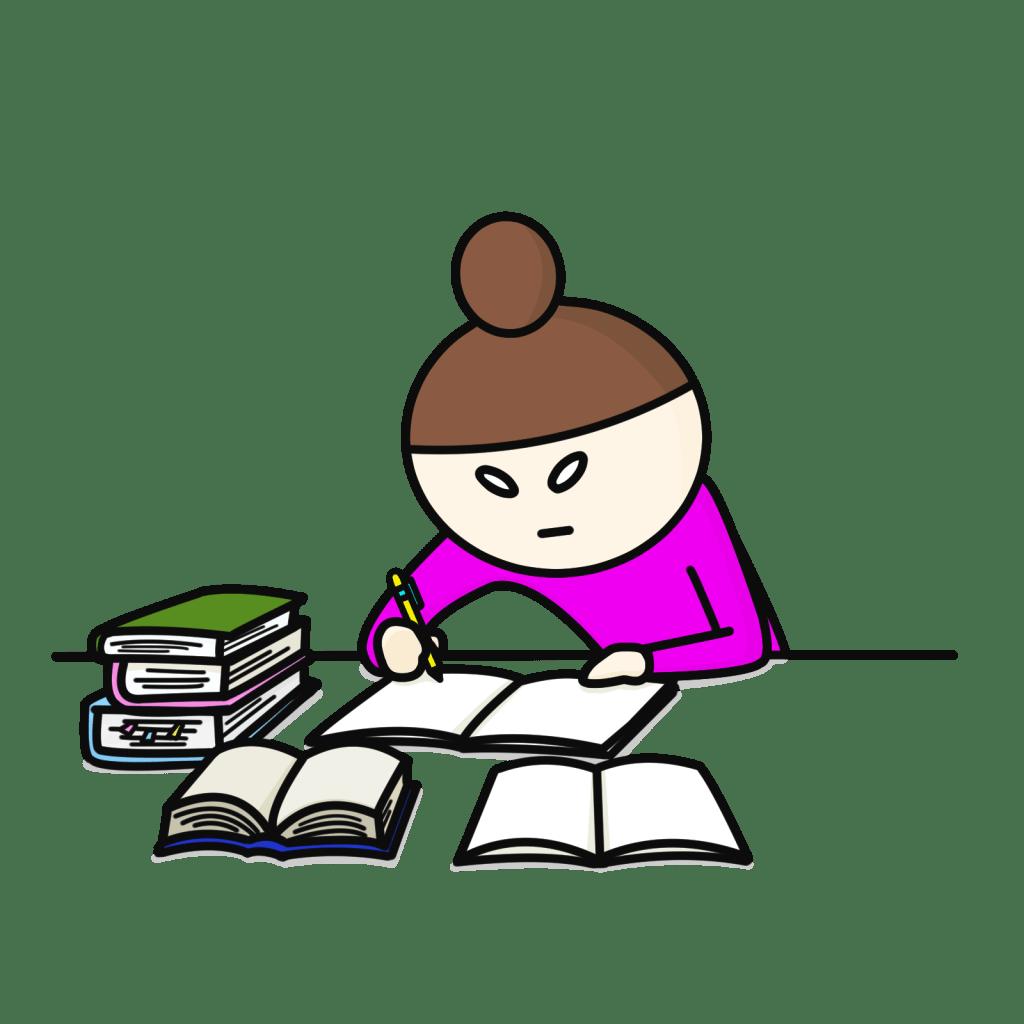試験勉強を頑張る