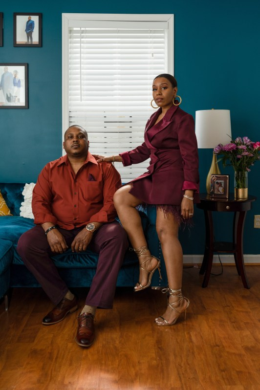 husband and wife in a room for successful marriage post