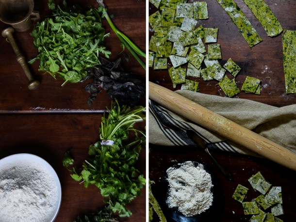 Hand Made Herb Pasta What's Cooking
