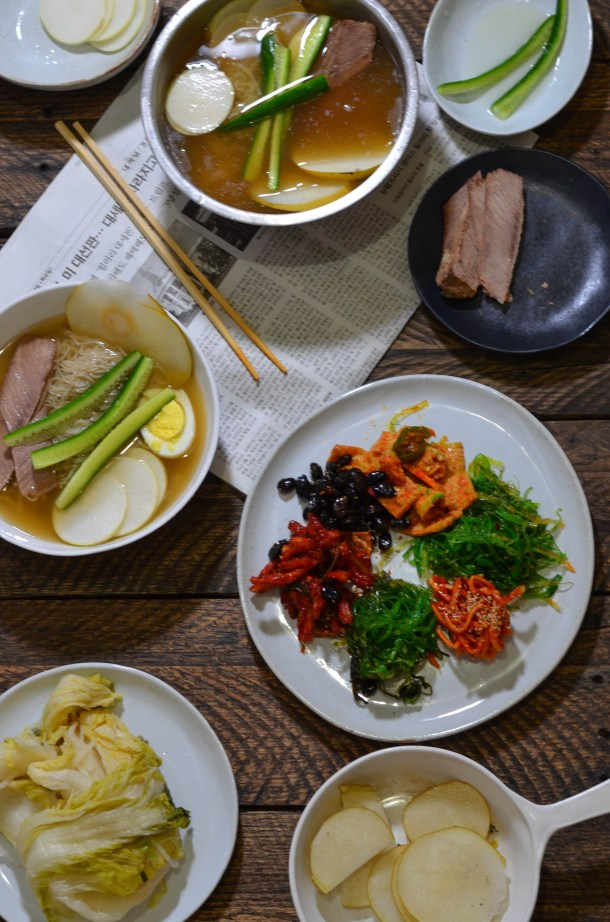 Naengmyeon (Korean Cold Noodle Soup)- What's Cooking_